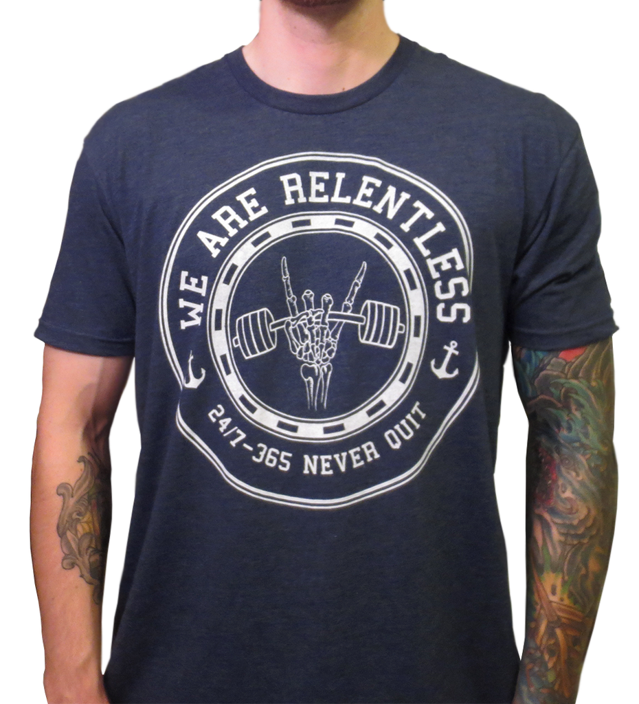 Metal Hands Tee - Midnight Navy