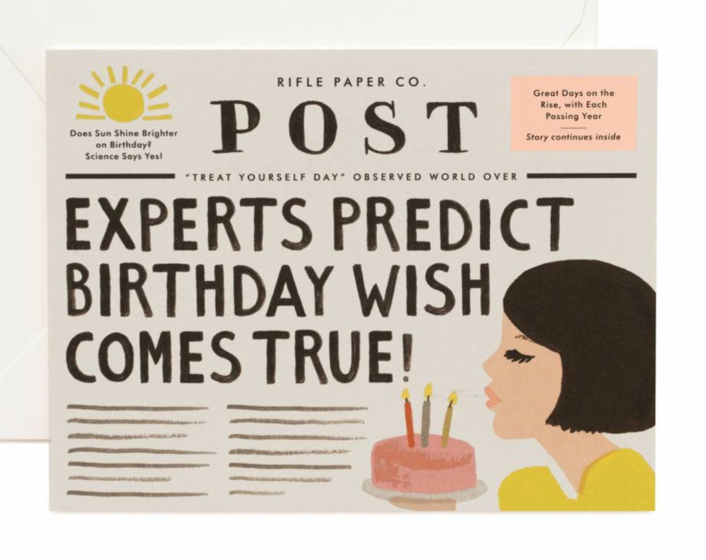 Breaking news Birthday card