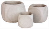 Ivory Square Planters