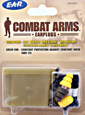 Dual Ended Combat Arms Ear Plugs (includes cord & case) - Tight360Tactical