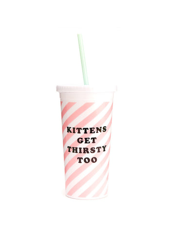 Ban.do Sip Sip Tumbler With Straw - Ticket Stripe