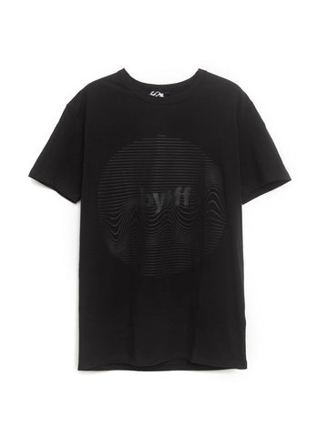 BYFF 'Circle Waveform' T-Shirt, BLACK/GREY