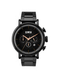 Edwin Watch, ELEMENT Black Stainless Steel Chronograph Watch