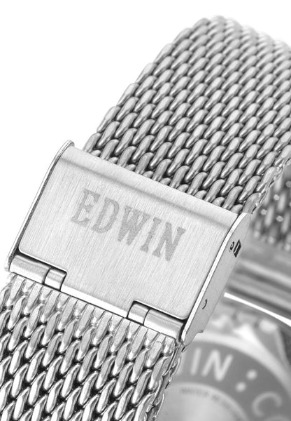 Edwin Watch, EPIC Stainless Steel 3-Hand Date Watch