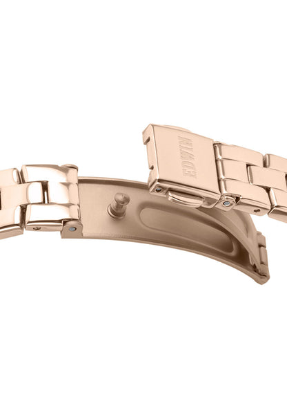 Edwin Watch, ECHO Lady Rose Gold-Tone Stainless Steel 3-Hand Watch