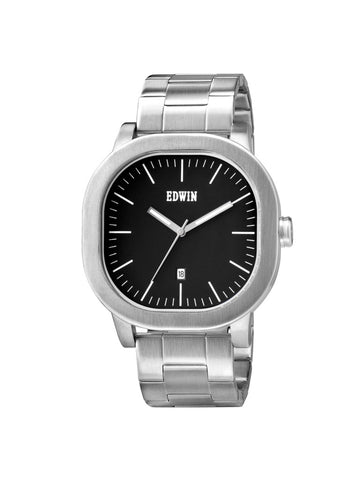 Edwin Watch, ANDERSON Stainless Steel 3-Hand Date Watch