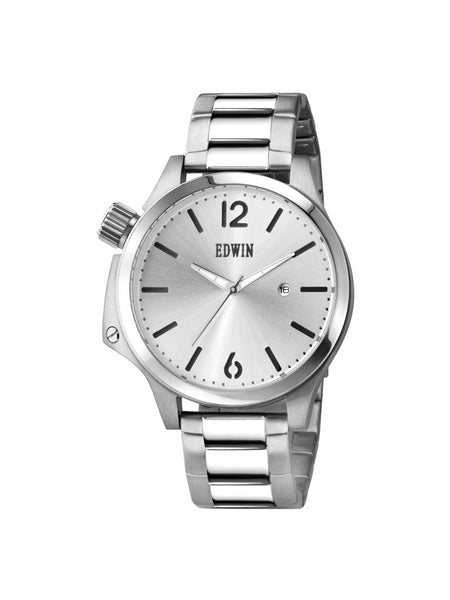 Edwin Watch, BROOK Stainless Steel 3-Hand Date Watch