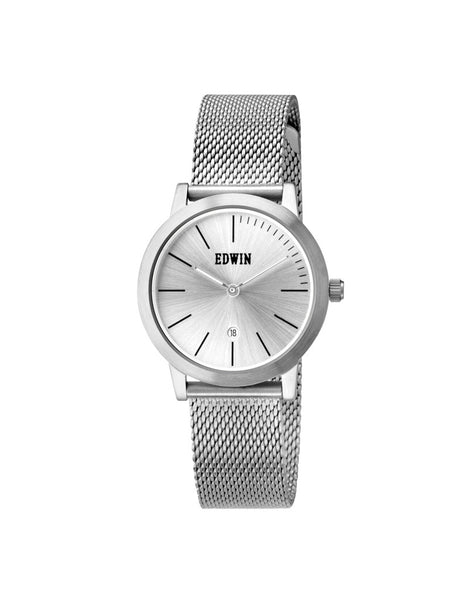 Edwin Watch, KENNY S Stainless Steel & Mesh Band for Ladies