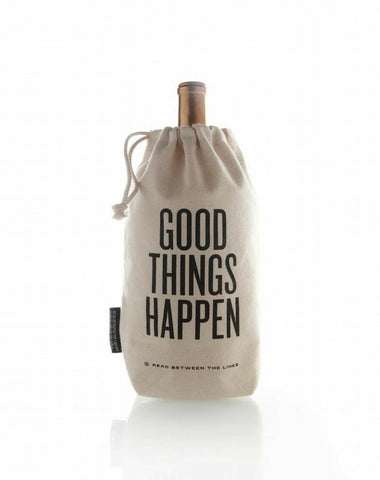 Read Between the Lines 'Good Things Happen' Wine Bag