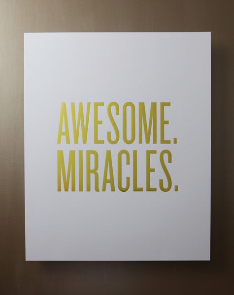 "Read Between the Lines 'Awesome Miracles' 16""x20"" Unframed Print"