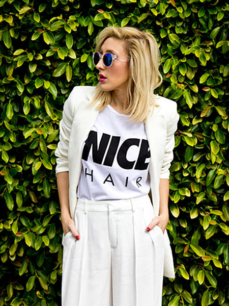 'Nice Hair' T-Shirt, GRY/MRN