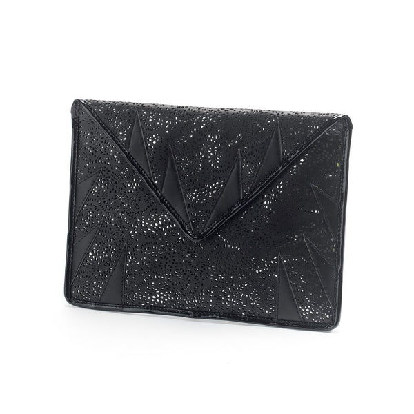 Mata Hari x A-Morir Collaboration : Envelope Clutch Black