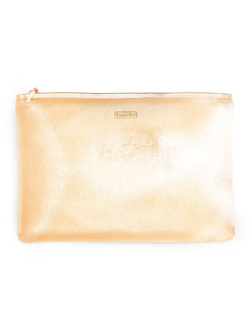 "Ban.do ""Keep It Classy"" Zip Pouch - Metallic Rose Gold"