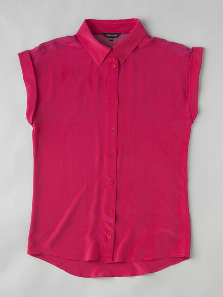 THE BETTIE SILK SHIRT - PINK TEASEARAMA