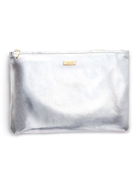 "Ban.do ""Keep It Classy"" Zip Pouch - Silver"