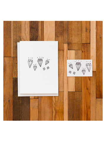 Tattly 'Diamond' Greeting Card