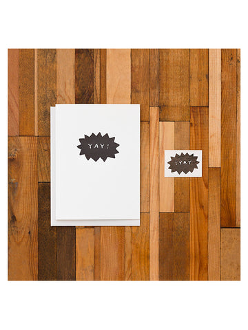 Tattly 'Yay Burst' Greeting Card