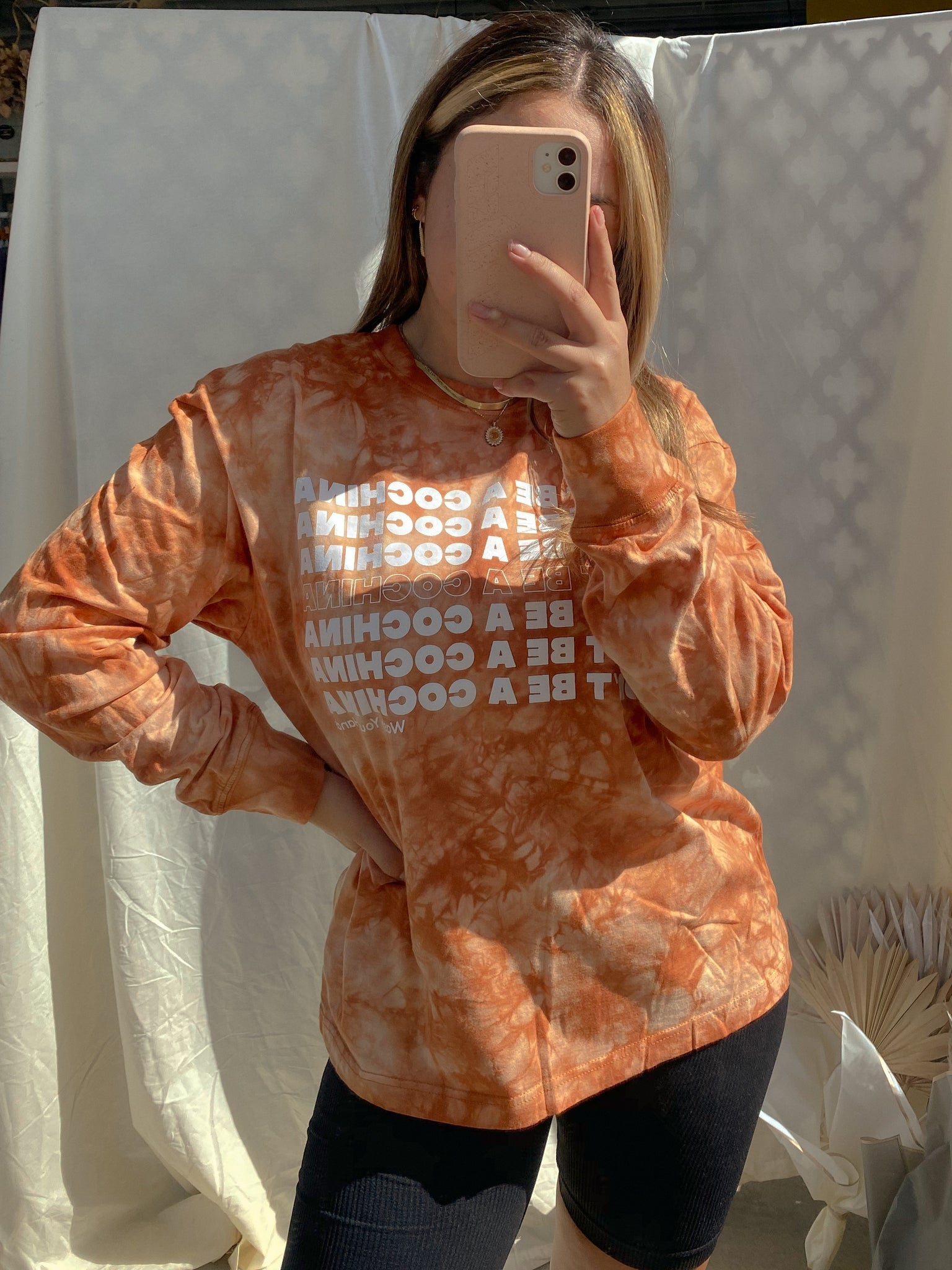 DON'T BE COCHINA LONG SLEEVE // PUMPKIN