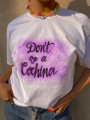 DON'T BE A COCHINA AIRBRUSH // LILAC BUTTERFLIES