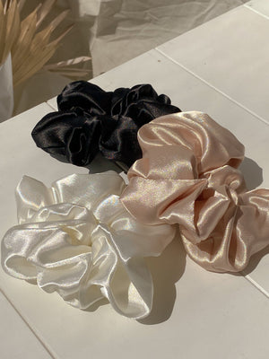 Satin Finish Trio Scruchies Set
