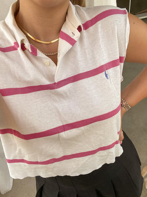 PINKY STRIPES POLO BY RALPH LAUREN