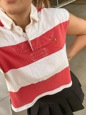 RED STRIPES POLO BY RALPH LAUREN