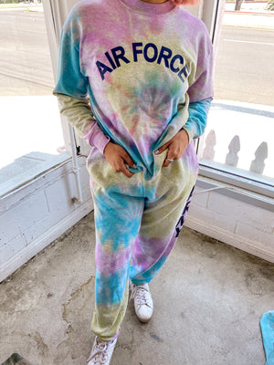 AIRFORCE CREWNECK SWEAT SET// PASTEL DREAMS