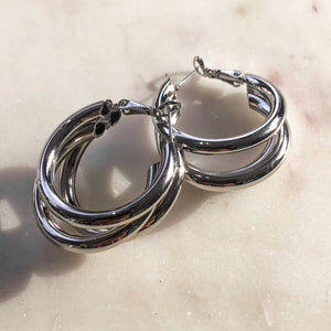 Triple Hoop Earring