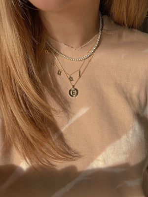 MORNING GLORY INITIAL NECKLACE