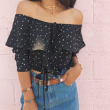 Star Off The Shoulder Peasant Top