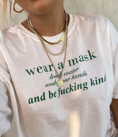 WEAR A MASK & BE KIND TEE