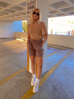 IN THE RING SHORTS // TOFFEE