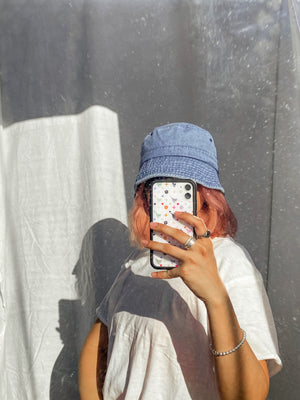 Denim Baby Bucket Hat // Light Wash