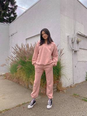 LOS ANGELES SWEAT SET // DUSTY ROSE