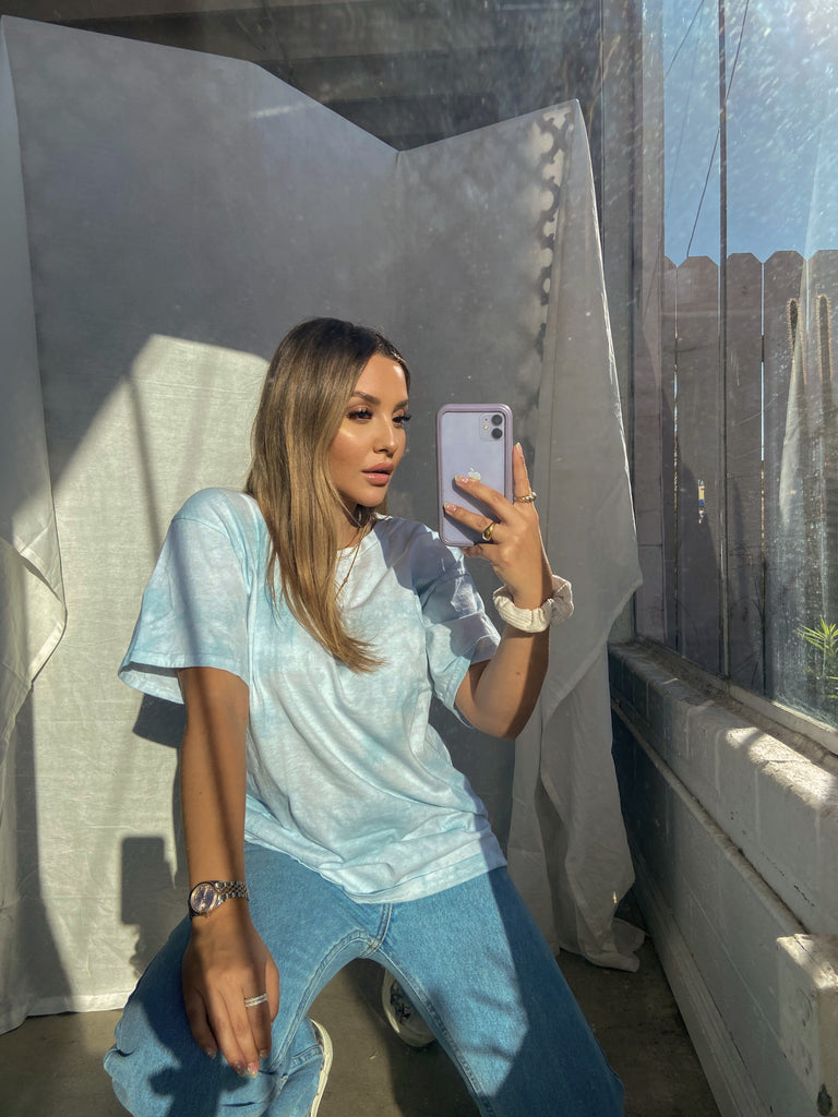 CRUSHIN ON YOU OVERSIZED TEE // BABY BLUE