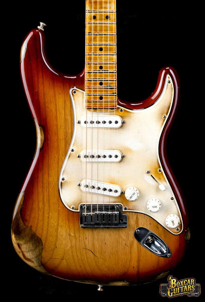 Fender American Stratocaster Aged Sienna Burst 1 Boxcar Guitars