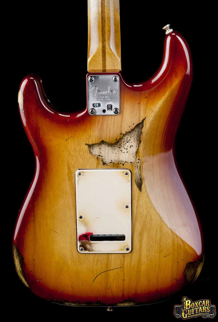 Fender American Stratocaster Aged Sienna Burst 2 Boxcar Guitars