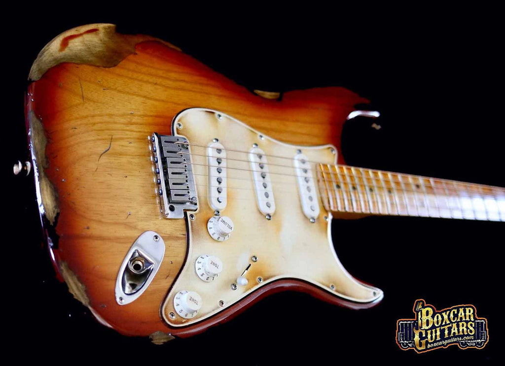 Fender American Stratocaster Aged Sienna Burst 3 Boxcar Guitars