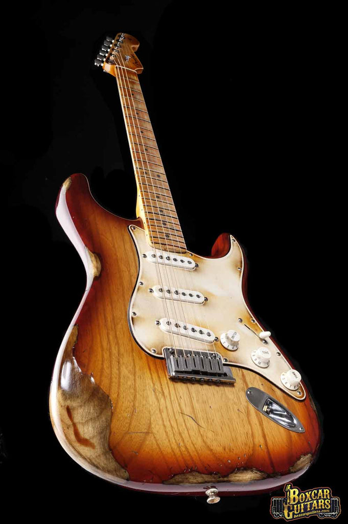 Fender American Stratocaster Aged Sienna Burst 4 Boxcar Guitars