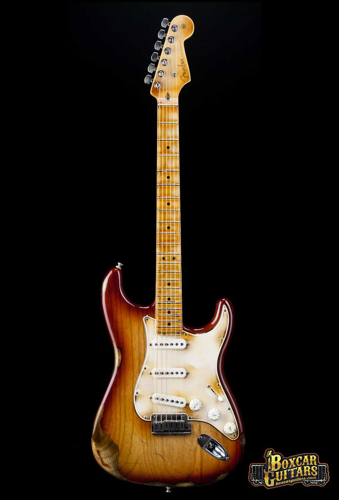 Fender American Stratocaster Aged Sienna Burst 5 Boxcar Guitars