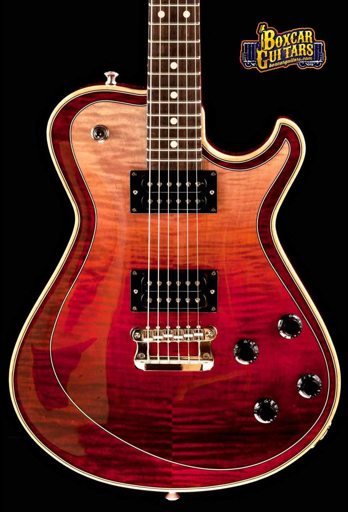 Knaggs Kenai T3 Faded Burgundy Double Purf 1 Boxcar Guitars