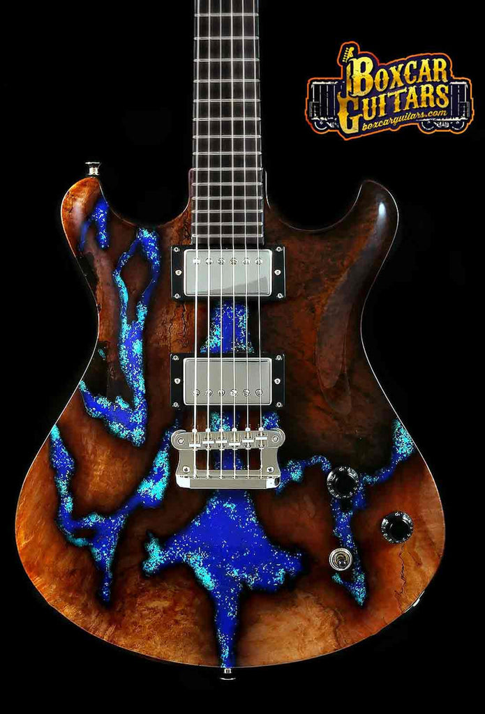 Knaggs Keya T2 Spalted Maple & Lapis Stone 1 Boxcar Guitars