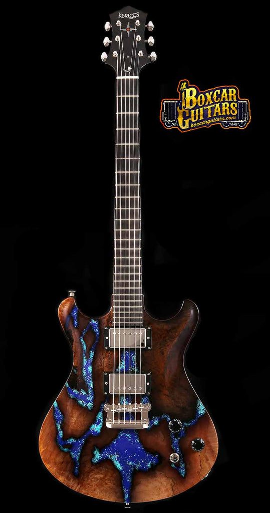 Knaggs Keya T2 Spalted Maple & Lapis Stone 3 Boxcar Guitars