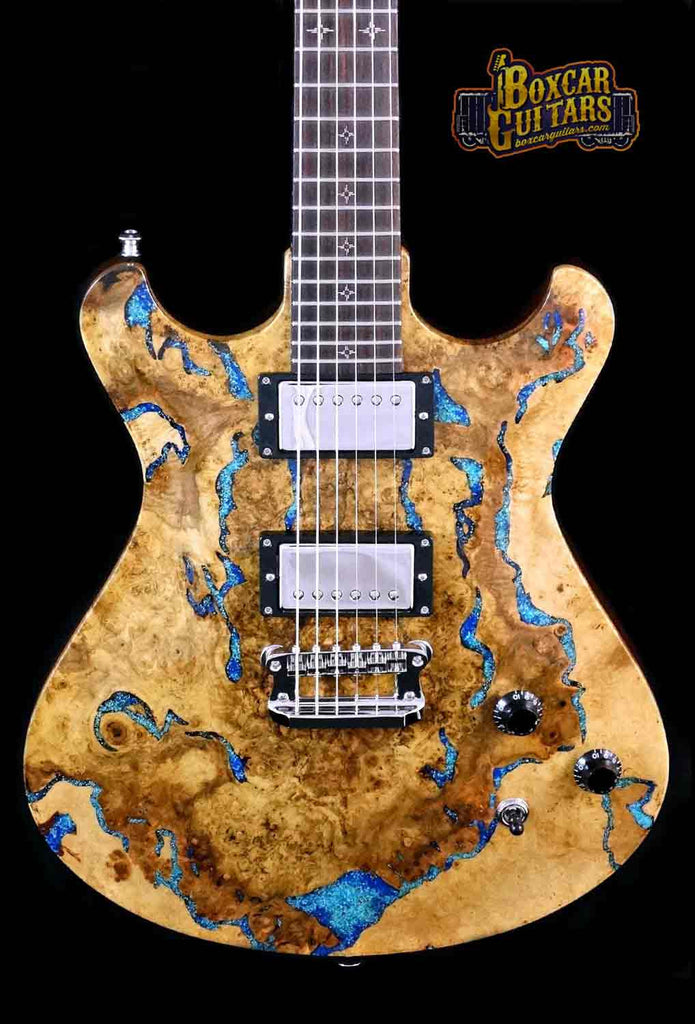 Knaggs Keya Tier 2 Splated Maple w/Lapis Stone Inlay 1 Boxcar Guitars