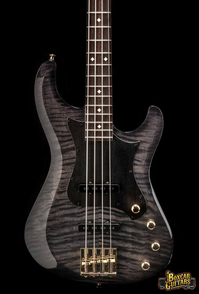 Knaggs Severn 4 J-Bass Tier 2 Faded Onyx Serial #6 Boxcar Guitars 1