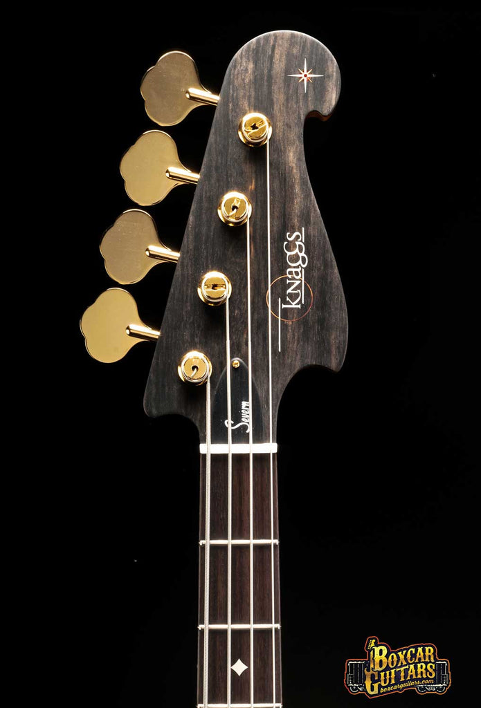 Knaggs Severn 4 J-Bass Tier 2 Faded Onyx Serial #6 Boxcar Guitars 5
