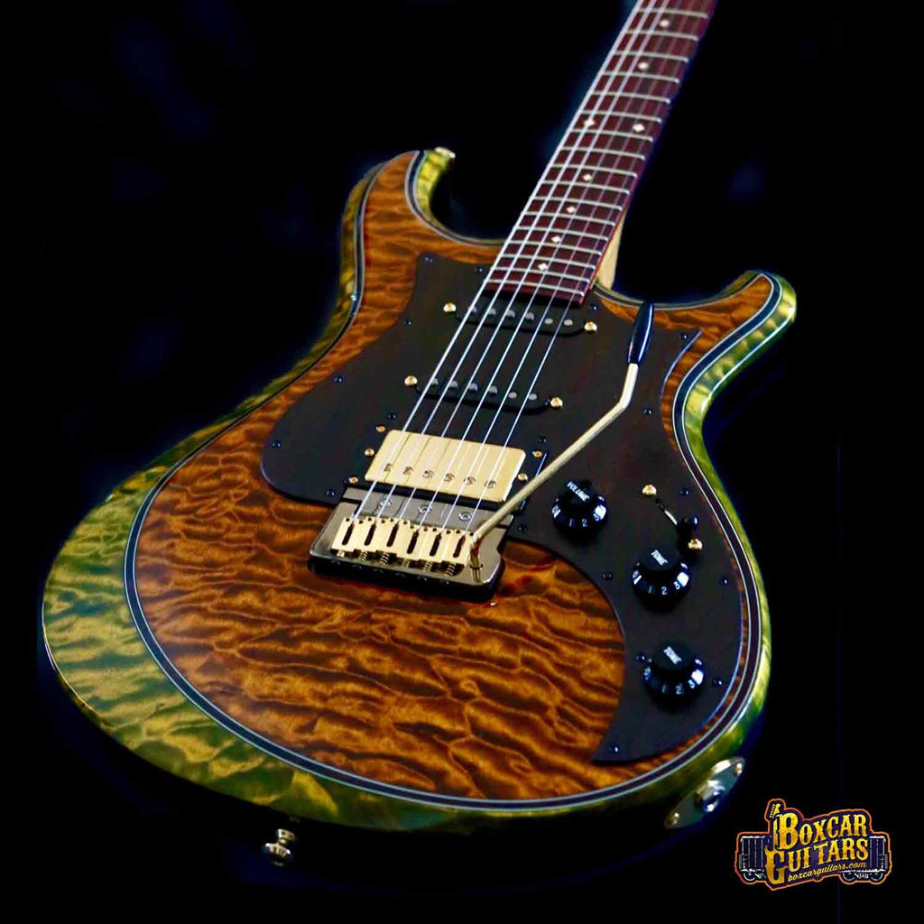 Knaggs Severn T2 Spring/Sunflower Quilted Top 2 Boxcar Guitars