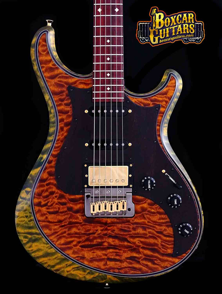 Knaggs Severn T2 Spring/Sunflower Quilted Top 3 Boxcar Guitars