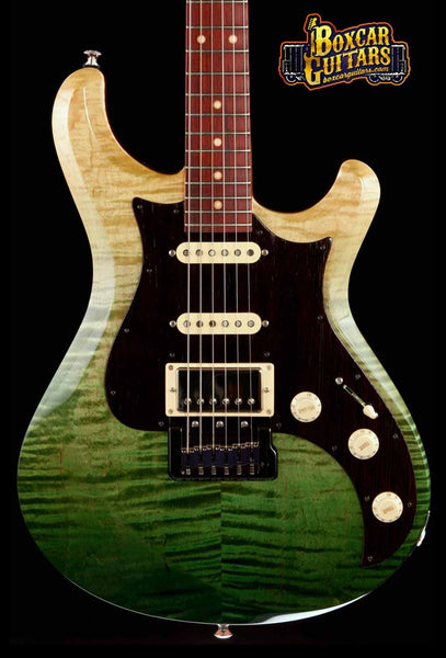 Knaggs Severn T3 Trem Faded Forest Green 1 Boxcar Guitars