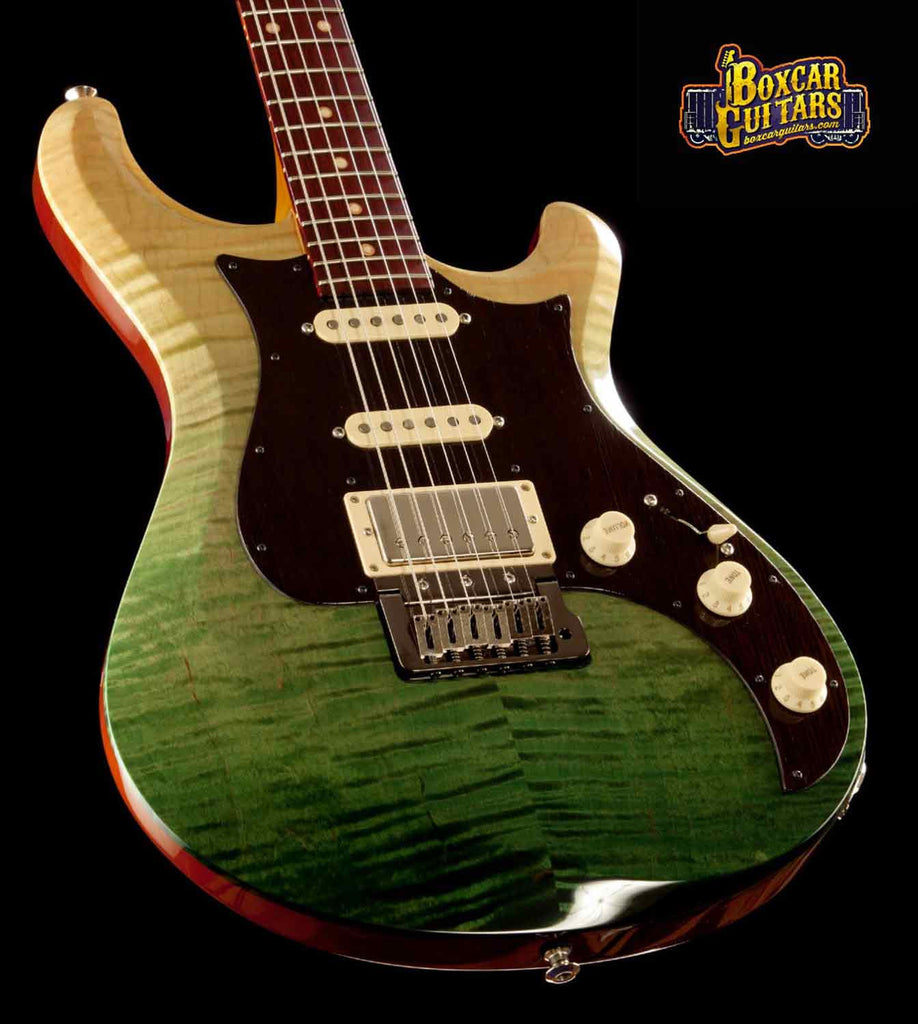 Knaggs Severn T3 Trem Faded Forest Green 2 Boxcar Guitars